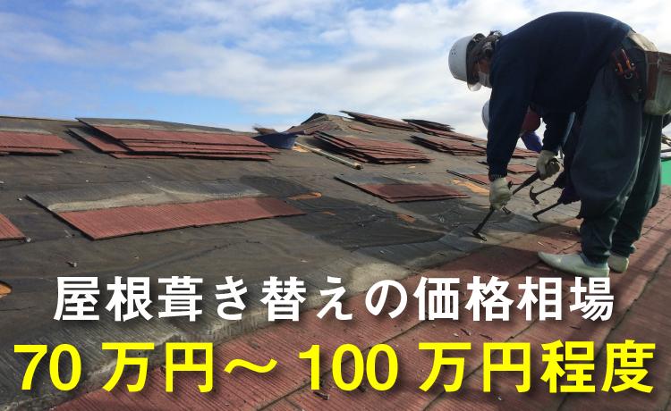 屋根葺き替え工事の価格相場