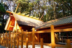 神社の屋根 伊勢神宮