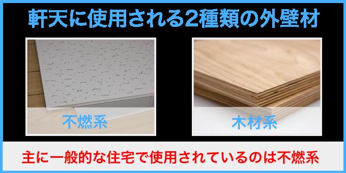 軒天材で使用される2種類の外壁材