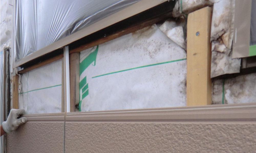 外壁の雨漏り修理の部分張り替え