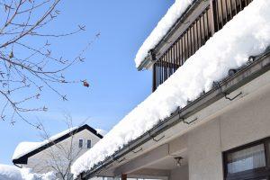 雪が積もった屋根